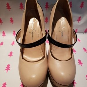 Jessica Simpson two tone heel
